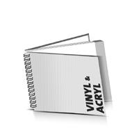 Hardcover Geschäftsberichte drucken Vinyl oder Acryl Deckeleinband Wire-O Bindung Querformat