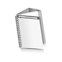 Prospekte drucken Deck-Blatt  2 Seiten Schluss-Blatt  4 Seiten Prospekte mit Drahtkammbindung Drahtkamm links Hochformat