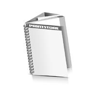 Prospekte drucken Deck-Blatt  2 Seiten Schluss-Blatt  6 Seiten Prospekte mit Drahtkammbindung Drahtkamm links Hochformat