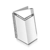 Prospekte drucken Deck-Blatt  4 Seiten Schluss-Blatt  2 Seiten Prospekte mit Drahtkammbindung Drahtkamm links Hochformat