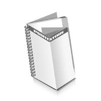 Prospekte drucken Deck-Blatt  6 Seiten Schluss-Blatt  2 Seiten Prospekte mit Drahtkammbindung Drahtkamm links Hochformat
