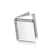 Prospekte drucken Deck-Blatt  2 Seiten Schluss-Blatt  2 Seiten Prospekte mit Drahtkammbindung Drahtkamm links Quadratformat