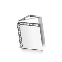 Prospekte drucken Deck-Blatt  2 Seiten Schluss-Blatt  6 Seiten Prospekte mit Drahtkammbindung Drahtkamm links Quadratformat