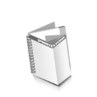 Prospekte drucken Deck-Blatt  6 Seiten Schluss-Blatt  2 Seiten Prospekte mit Drahtkammbindung Drahtkamm links Quadratformat