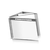 Prospekte drucken Deck-Blatt  2 Seiten Schluss-Blatt  6 Seiten Prospekte mit Drahtkammbindung Drahtkamm links Querformat