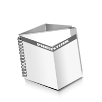 Prospekte drucken Deck-Blatt  4 Seiten Schluss-Blatt  4 Seiten Prospekte mit Drahtkammbindung Drahtkamm links Querformat