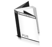 Softcover Kataloge bedrucken  8 Seiten Umschlag PUR-Klebebindung Hochformat