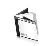 Softcover Kataloge bedrucken  8 Seiten Umschlag PUR-Klebebindung Quadratformat