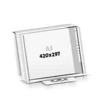 Schrijfblokken drukken flat package Schrijfblokken  A3  kruiselings (420x297mm)