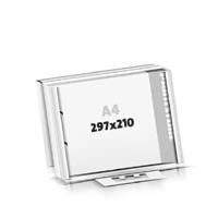 Schrijfblokken drukken flat package 2-voudig boringen Schrijfblokken  A4  kruiselings (297x210mm)