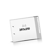 Block  A4  quer (297x210mm) 2-fach Bohrung