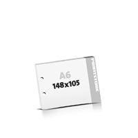 Block  A6  quer (148x105mm) 2-fach Bohrung