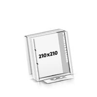 Block  210x210mm Versandverpackung 2-fach Bohrung