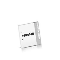 Seminarblöcke bedrucken 2-fach Bohrung Seminarblöcke  148x148mm