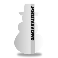 Gestanzte Flyer drucken Stanzform Schneemann Einseitiger Flyerdruck
