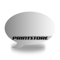 Gestanzte Flugblätter drucken Stanzwerkzeug Sprechblase Einseitiger Online-Druck