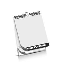 Kalender drucken Kalenderdeckblatt Kalenderblätter & Kalenderdeckblätter beidseitiger Druck Drahtkammbindungen Kalender Druck im Hochformat