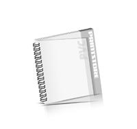 Imagebroschüren drucken Drahtkammbindung OHNE Deck-Blatt / PVC