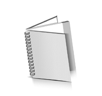 Hardcover Kataloge drucken Drahtkammbindung