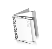 Zeitschrift Wire-O Bindungen mit Deck-Blatt / PVC