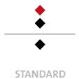 Mappen mit  2 Druckfarben bedruckt (Schwarz +  1 x HKS / Pantone) Rückseite Schwarz min. 5 Werktage Standard-Produktionszeit Stanzform 36080-A-(0)-47.0 Flügelmappen-Füllhöhe: 0mm  Mappen stanzen, falten & kleben Schnellheftmechaniken einkleben