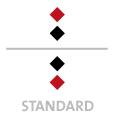 Mappen mit  2 Druckfarben bedruckt (Schwarz +  1 x HKS / Pantone) min. 5 Werktage Standard-Produktionszeit Stanzform 36080-A-(0)-47.0 Flügelmappen-Füllhöhe: 0mm  Mappen stanzen, falten & kleben Schnellheftmechaniken einkleben