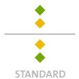 Mappen mit  2 Sonderfarben bedruckt ( 2 x HKS / Pantone) min. 5 Werktage Standard-Produktionszeit Stanzform 36080-A-(0)-47.0 Flügelmappen-Füllhöhe: 0mm  Mappen stanzen, falten & kleben Schnellheftmechaniken einkleben
