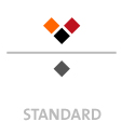 Mappen mit  4 Druckfarben bedruckt min. 5 Werktage Standard-Produktionszeit Stanzform 36080-A-(0)-47.0 Flügelmappen-Füllhöhe: 0mm  Mappen stanzen, falten & kleben Schnellheftmechaniken einkleben