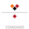 Mappen mit  3 Druckfarben bedruckt (Schwarz +  2 x HKS / Pantone) Rückseite  1 Sonderfarbe Sonderfarbe der Rückseite wird auch auf Vorderseite verwendet min. 5 Werktage Standard-Produktionszeit Stanzform 36080-A-(0)-47.0 Flügelmappen-Füllhöhe: 0mm  Mappen stanzen, falten & kleben Schnellheftmechaniken einkleben