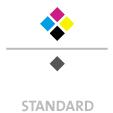 Mappen mit  5 Druckfarben bedruckt min. 5 Werktage Standard-Produktionszeit Stanzform 36080-A-(0)-47.0 Flügelmappen-Füllhöhe: 0mm  Mappen stanzen, falten & kleben Schnellheftmechaniken einkleben