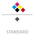 Mappen mit  6 Druckfarben bedruckt min. 5 Werktage Standard-Produktionszeit Stanzform 36080-A-(0)-47.0 Flügelmappen-Füllhöhe: 0mm  Mappen stanzen, falten & kleben Schnellheftmechaniken einkleben