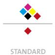 Mappen mit  5 Druckfarben bedruckt (CMYK +  1 x HKS / Pantone) Rückseite  1 Sonderfarbe Sonderfarbe der Rückseite wird auch auf Vorderseite verwendet min. 5 Werktage Standard-Produktionszeit Stanzform 36080-A-(0)-47.0 Flügelmappen-Füllhöhe: 0mm  Mappen stanzen, falten & kleben Schnellheftmechaniken einkleben