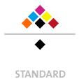 Mappen mit  6 Druckfarben bedruckt (CMYK +  2 x HKS / Pantone) Rückseite Schwarz min. 5 Werktage Standard-Produktionszeit Stanzform 36080-A-(0)-47.0 Flügelmappen-Füllhöhe: 0mm  Mappen stanzen, falten & kleben Schnellheftmechaniken einkleben